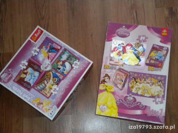 puzzle trefl barbie księżniczki 3D