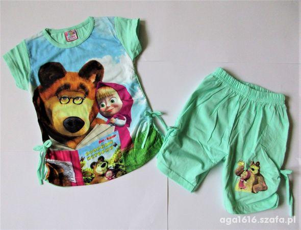 Nowy Komplet dla dziewczynki Masha i Niedźwiedź 80