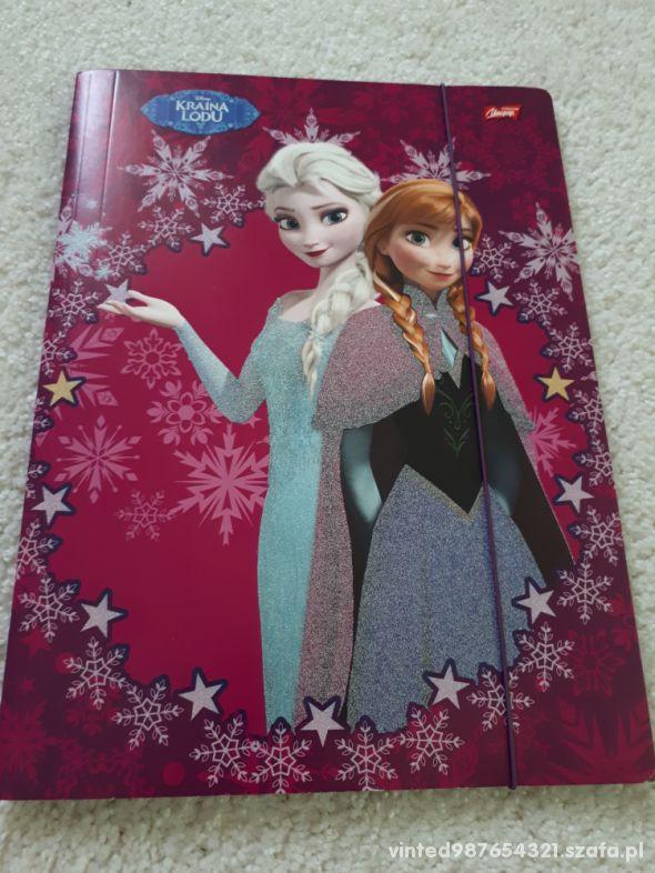 Disney Frozen teczka A4 z gumką BROKAT