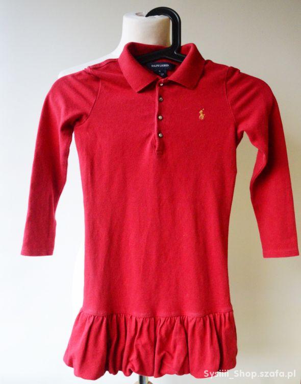Sukienka Ralph Lauren Czerwona 6 lat 116 cm