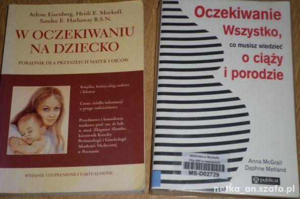 dwie książki o ciąży ciąża