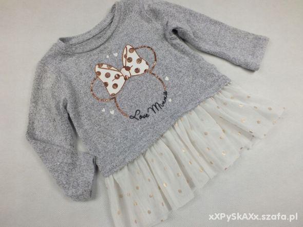 Disney sweterek z Minnie tiulowa falbanka 68 3 6M