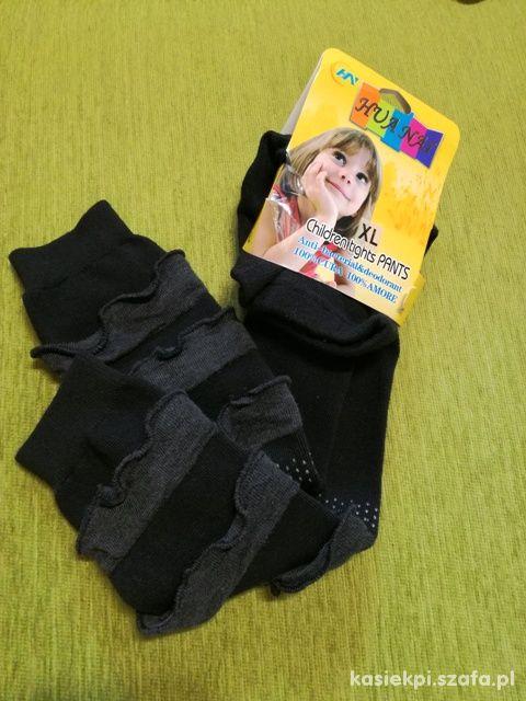 czarne legginsy getry