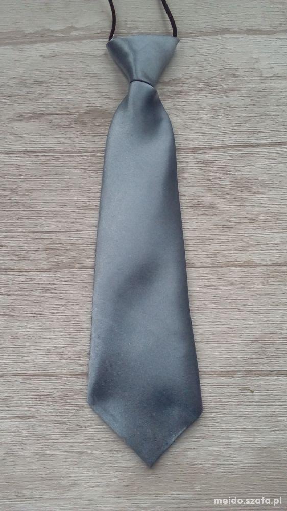 Krawat dziecięcy chłopięcy od 0 do 16 STALOWY