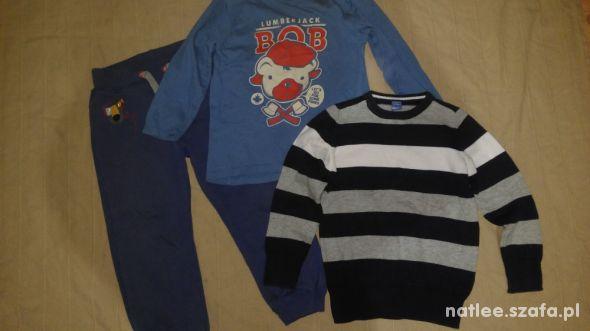 Spodnie bluzka i sweter 104 110