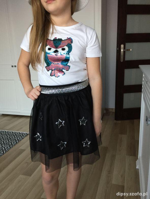 koszulki z cekinkami sowa