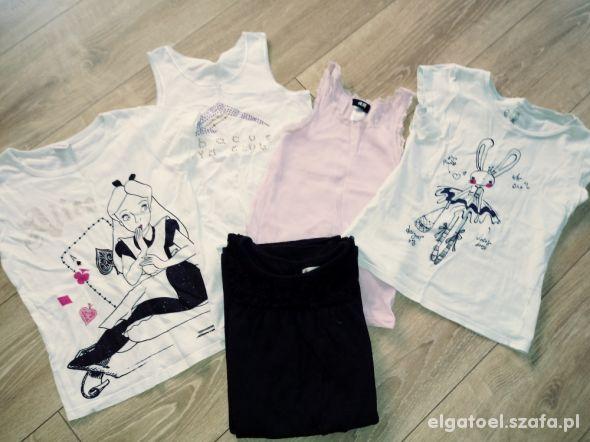 5 bluzeczek dla dziewczynki