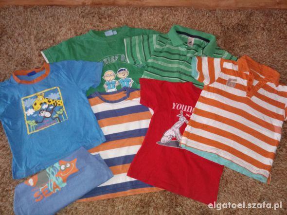 6 bluzeczek dla chłopczyka