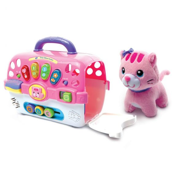Vtech Pink Cosy Kitten Carrier Różowy kot klatka