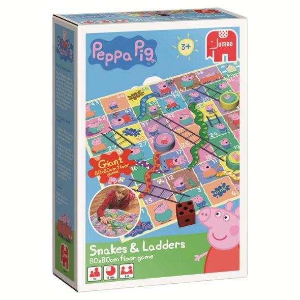 Świnka Peppa Pig Snakes Ladders gra planszowa