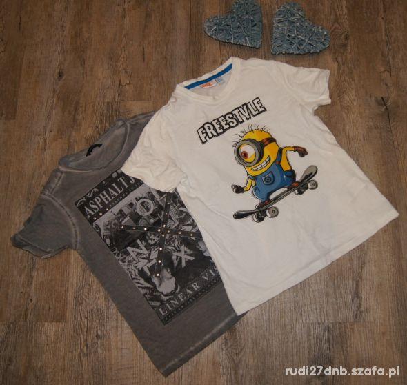 Zestaw chłopiec koszulki Minionki rozm 116 122