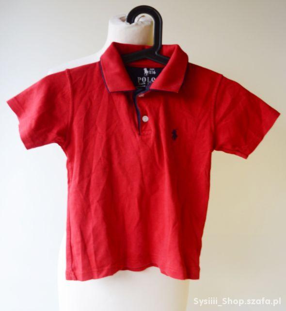 Koszula Polo Czerwona Ralph Lauren 116 cm 6 lat RL