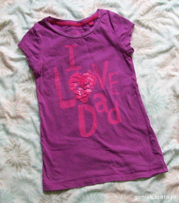 NEXT koszulka I LOVE DADD 4l 104