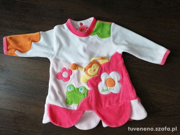 Sweterek sukienka niemowlęca