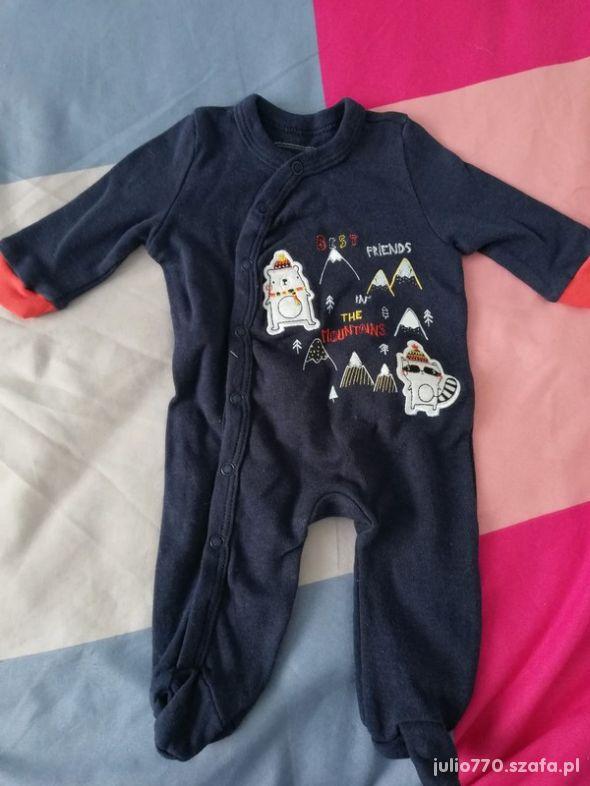Granatowy pajac niemowlęcy 56