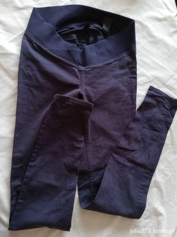 Granatowe spodnie ciążowe H&M