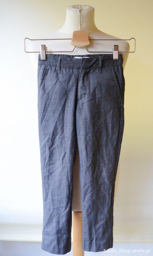 Spodnie Garnitur Szare Kratka 116 cm 6 lat Name It