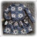 Sukienka tunika we wzory w rozmiarze 146