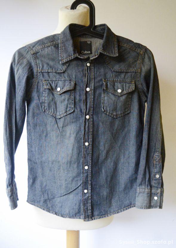 Koszula Jensowa Dzinsowa Cubus 134 cm 9 lat Jeans