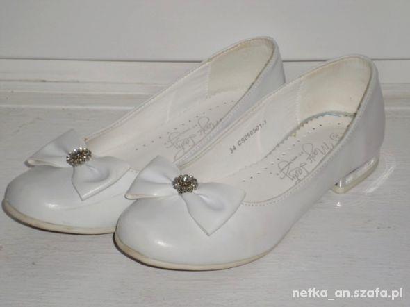 rozm 34 białe buty baleriny KOMUNIA