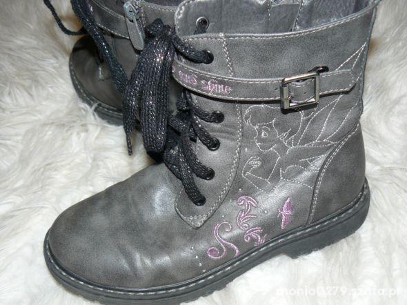 Ocieplane buty dla dziewczynki 34