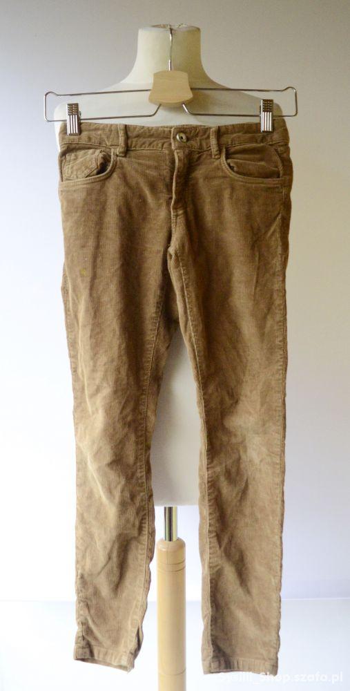 Spodnie Brązowe Sztruksowe Brąz Massimo Dutti 122