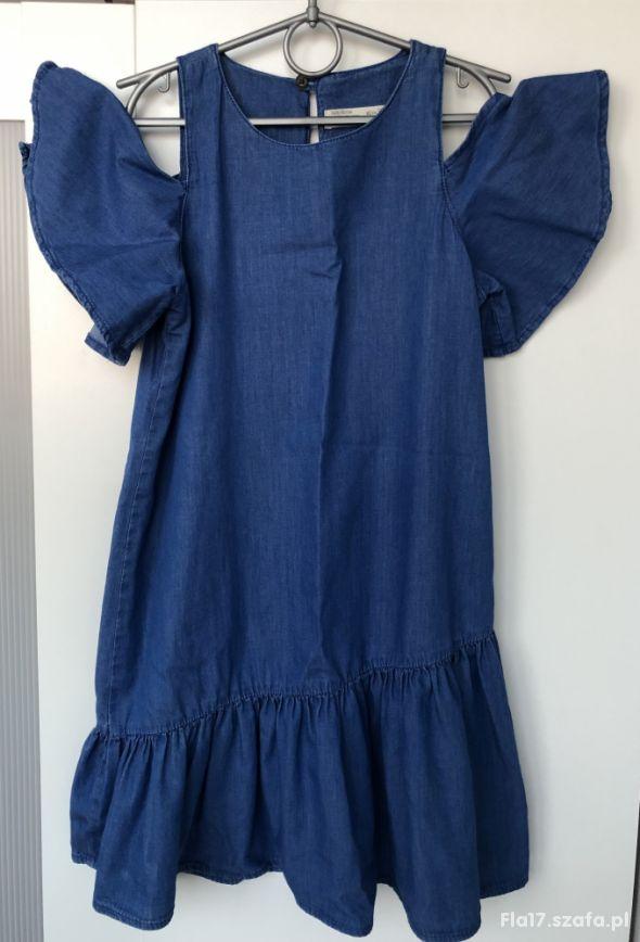 ZARA Kids sukienka z falbaną 11 12 lat 152 cm BDB