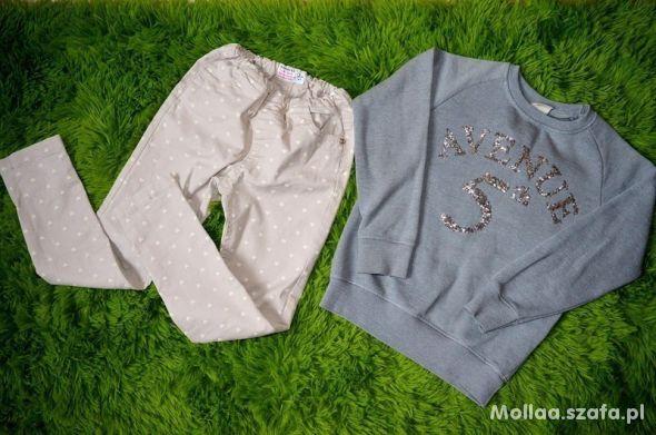 Komplet bluza Zara Spodnie Reserved roz 122