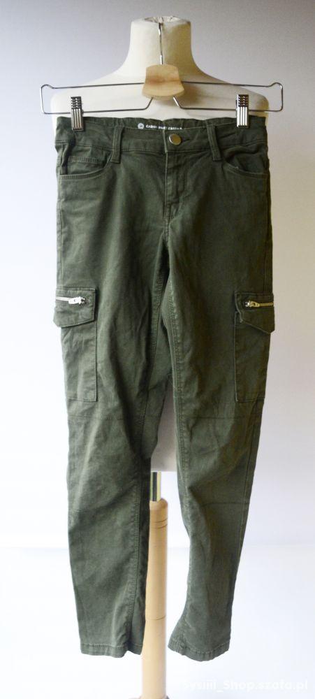 Spodnie Bojówki Zielone Khaki 146 cm 11 lat Cubus