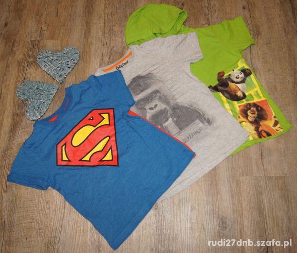 Zestaw chłopiec koszulki Superman Małpa rozm 122