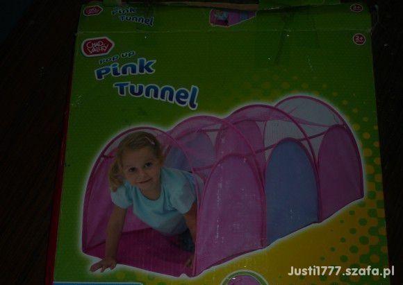Różowy tunel do zabawy