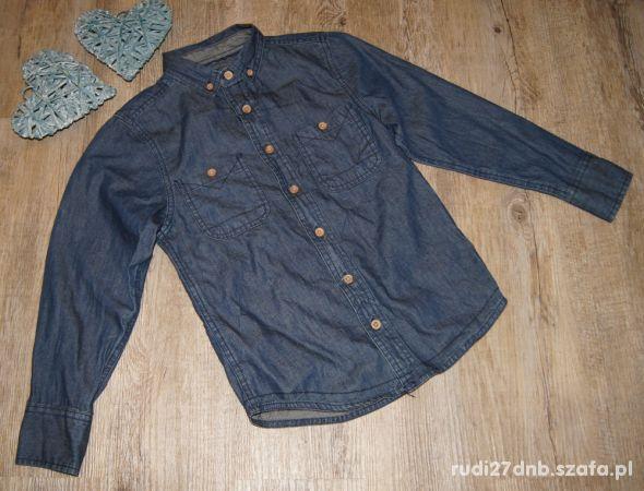 Koszula chłopiec granat jeans Rebel rozm 128