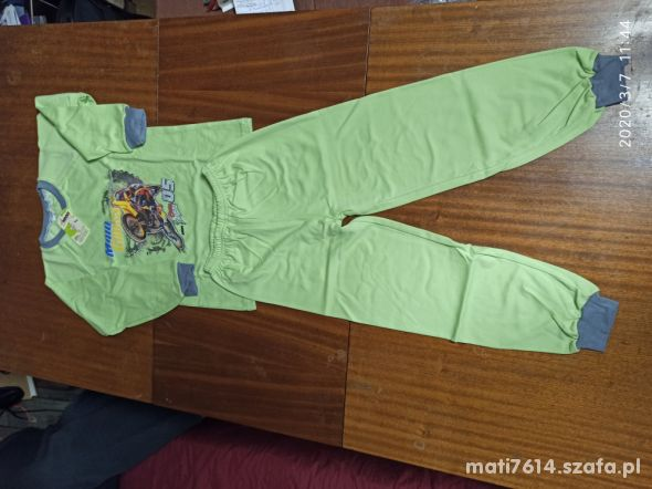Piżamka dla chłopca roz 122 wyprzedaż