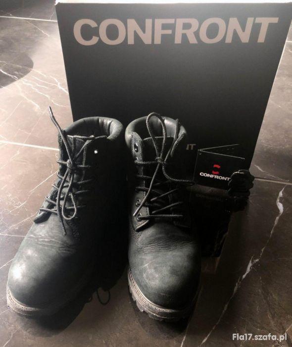 CONFRONT classic boot CFWWB216002 czarne 38 skóra
