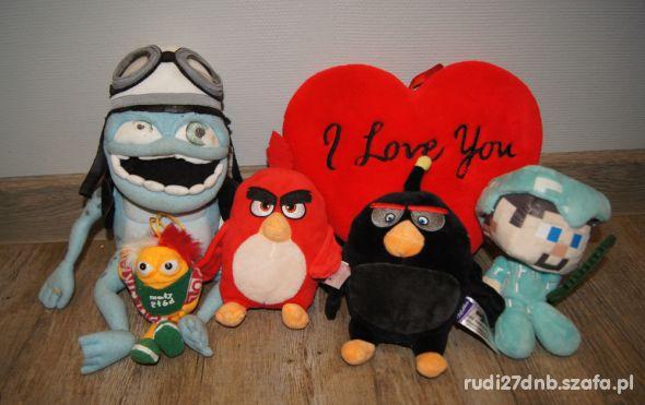 Maskotki przytulanki Minecraft Angry Birds