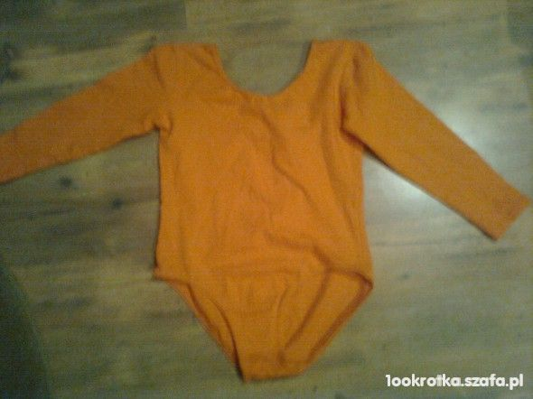Pomarańczowe body rozmiar 116