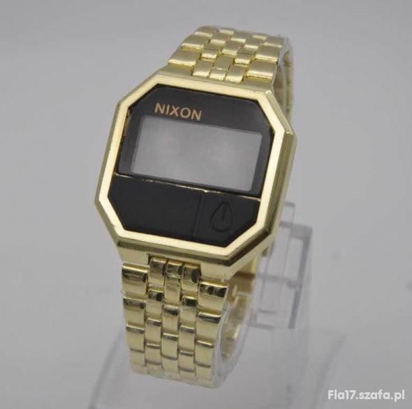 NIXON Re Run zegarek damski męski unisex złoty NOW