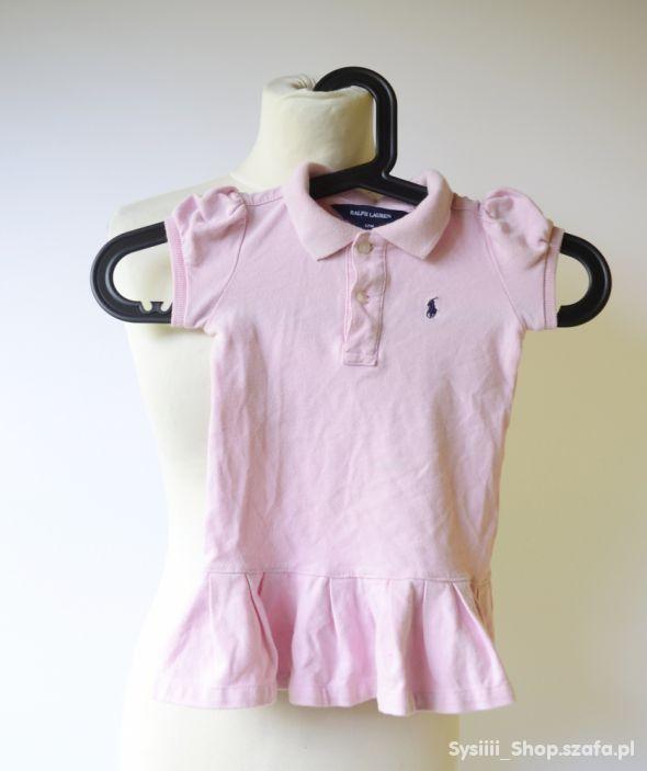 Sukienka Różowa Ralph Lauren Pudrowy Róż 12 m 86 c